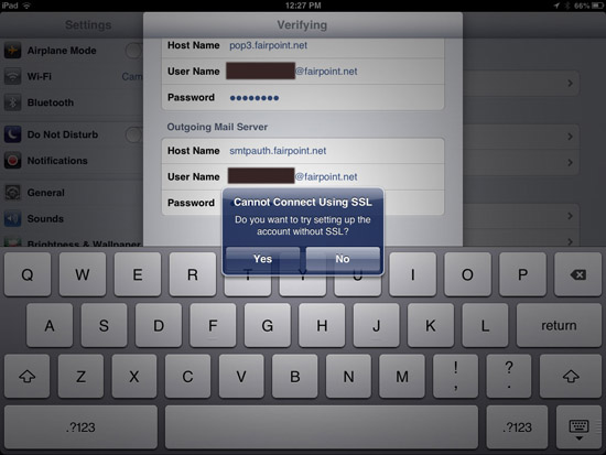 Fairpoint Email Setup on iPad & iPhone | iTech Coaching
